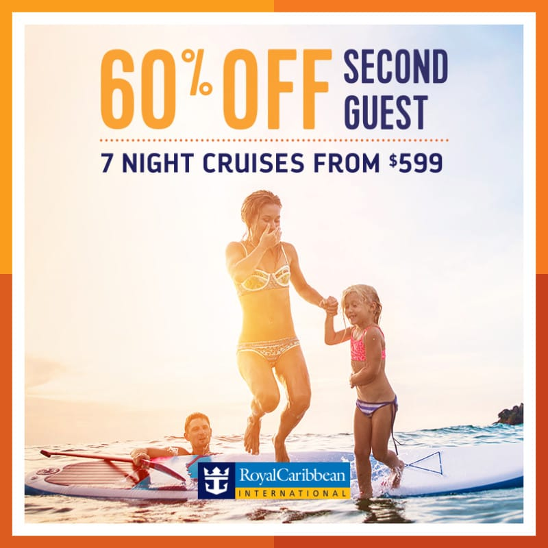 Royal Caribbean Cruises BOGO DEALS